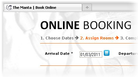 Online Booking View